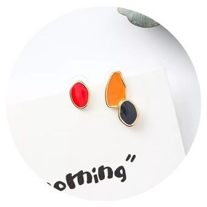 • NOW AVAILABLE! • Mismatched Enamel Studs •